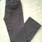 Рапродажа! 38-40р. Коричневые брюки в полоску Vero Moda