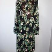 Качество!!! Стильная макси блуза/рубашка от Zara, в новом состоянии
