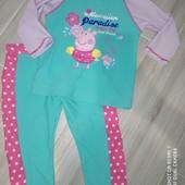 Купальный костюм с защитой от уф для девочки на 4-5лет