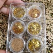 Набор блесток для декора ногтей