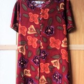 Качество!!! Красивая натуральная блуза в цветочный принт от Bhs