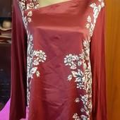 Новая блуза Per Una от M&S, разм. L (eur 42), сток, цвет: бордо.