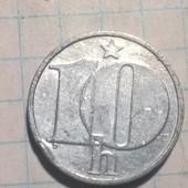 Монета Чехословакии 10 геллеров 1987