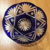 Ваза для конфет Чешское стекло