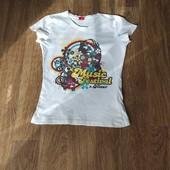 Не пропустите!!!Суперовая белоснежная футболочка на девочку 9-12 лет. Состояние новой!