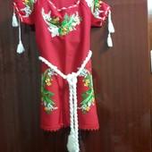 вишиване платтячко для дівчинки