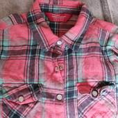 рубашечка коттон, на девочку, очень стильно смотрится , б/у 116см