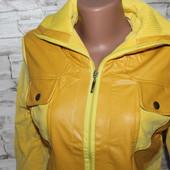 курточка деми на подростка, или на женщину хс -с , эко кожа + текстиль, размеры на наш хс с примерно