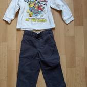 Реглан и штаны M&S на мальчика на 2-3 года одним лотом