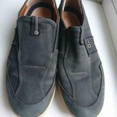 серые нат.нубук кроссы туфли ессо стелька 28.5см от края до края