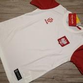 Польша! Спортивная футболка на физкультуру, размер 146 см рост!