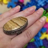 кольцо перстень яшма