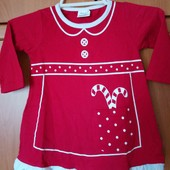 Нарядное платье на девочку, 100%котон. размер 62/68