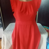 Шикарное, кралловое платье. Размер 14. Фото цвет не передает, оно коралловое. 14р.