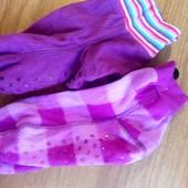 Лот 2 пары флисовые носки тапки слиппер-сокс США 21.5-22 см по стопе