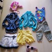 лот супер вещей и кроссы для девочек р. 110-114 см