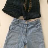 Шорты джинсовые 2 пары на дев 4-7 лет одни на выбор