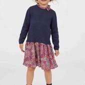 OshKosh B'gosh США платье на осень 6-7 116-122 см вязаный трикотаж и вискоза