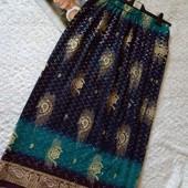 Красивая юбка макси с восточным принтом. размер наш 46,48,50
