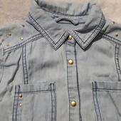 Рубашка под джинс на девочку 6-7 лет F&F