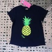 Классная фирменная футболка с пайетками от Рерсо! на 5-6 лет рост 116! хлопок!