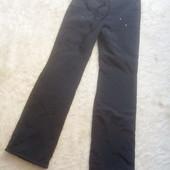 Штаны утепленые байкой черного цвета S-M