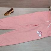 Германия!!! Какие классные коттоновые спортивные штаны с радугой для девочки! 110/116, полномерные!