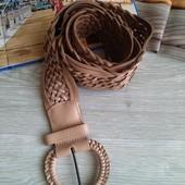 Широкий плетеный пояс