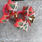 Новогодние заколочки или резиночки