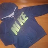 Nike кофта с капюшоном на молнии, для мальчика, на 7 лет на рост 128