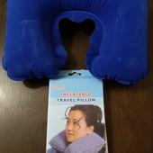 Дорожная подушка надувная подголовник под шею