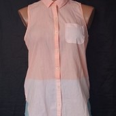 Коттоновая рубашка с удлиненной спинкой,s/m