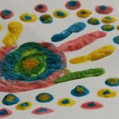 Магические растущие 3-D краски! Волшебство растущего рисунка своими руками! Яркий набор 5 цветов!