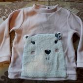 Красивый флисовый свитерок Baby club р.80