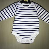 Хлопковый боди на возраст 6-9 месяцев