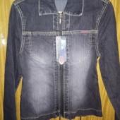 Новый джинсовый пиджак, см замеры