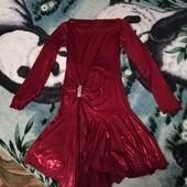 Нарядное платье красное. Мерки в описании