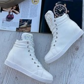 Белоснежные ботиночки Весна осень Регулируются шнуровкой