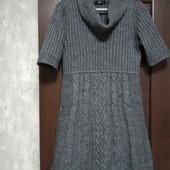 Фирменное теплое платье в отличном состоянии р.14-16 полиакрил шерсть альпака