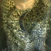 Блузка из травки цвета хаки на XL-XXL