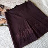 Красивая юбка с набивным принтом на пышные формы . размер евро 48,наш 52,54