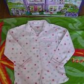 Не пропустите!!!Красивая фирменная байковая рубашечка Designers на красавицу 5-6 л