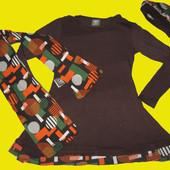 Нарядный комплект-платье,шарф,берет на 4-5 лет,