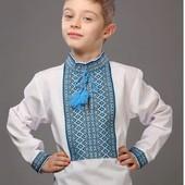 Вышивка для мальчика с классическим орнаментом, 110- 122р,