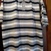 Красивая фирменная футболка Поло на 54-56р. Качество!! Новая! Сток!