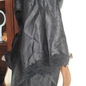 Шовковий халат з мереживом Dkaren