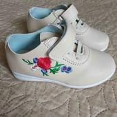 Мягенькие Деми ботиночки, стелька 16,8 см.