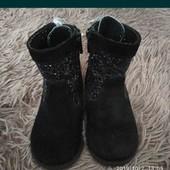 Натуральная замша ботинки , ботиночки , сапожки размер 24 демисезон