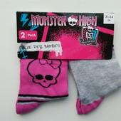 Лот 2 пары, можно докупить! Носочки Monster High , Германия. Р-р 27-30