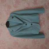 Дорогой голубой пиджак , 100% шерсть ! УП скидка-10%